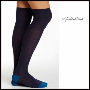 TALL OVER THE KNEES NAVY BLUE BOOT SOCKS